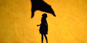 """Le prove generale dello spettacolo """"Shadowland"""", della compagnia teatrale di danza Piloboluss, allo Skirball Center for the Performing Arts, New York, 20 novembre 2015 (TIMOTHY A. CLARY/AFP/Getty Images)"""